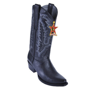 Los Altos Women's Black Genuine Deerskin Boots
