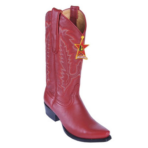 Los Altos Women's Red Genuine Deerskin Boots