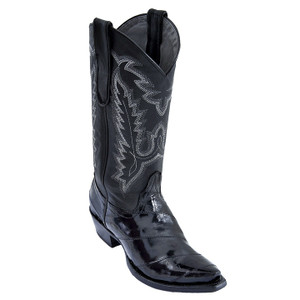 Los Altos Women's Black Snip Toe Eelskin Boots