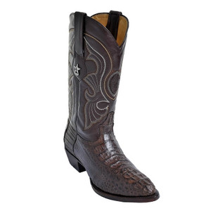 Los Altos Brown J-Toe Genuine Caiman