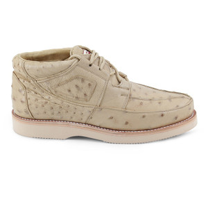 Los Altos Taupe Genuine Ostrich