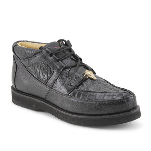 Los Altos Black Genuine Caiman & Ostrich