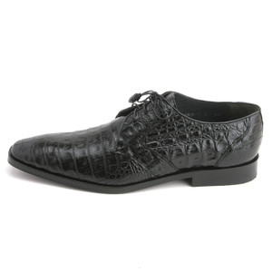 Los Altos Black Genuine Caiman Belly Lace-Up