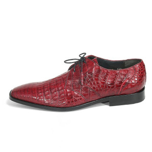 Los Altos Burgundy Genuine Caiman Belly Lace Up
