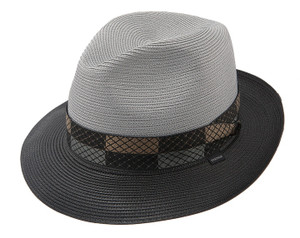 Stetson Andover Black & Grey Straw Hat
