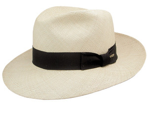 Stetson Panama Natural Center Dent Straw Hat