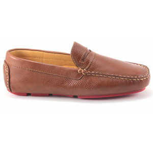 Sandro Moscoloni Santee Cognac Leather Driver Shoes