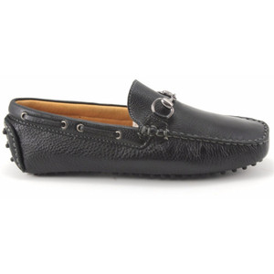 Sandro Moscoloni Nassau Black  Leather Driver Shoes