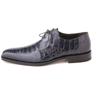 Mezlan Anderson Blue Genuine Crocodile Lace-Up