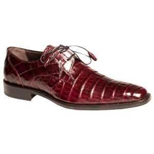 Mezlan Anderson Burgundy Genuine Crocodile Lace-Up
