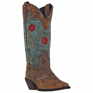 Laredo Miss Kate Brown & Teal Leather Boot