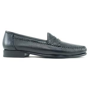 Alan Payne Amalfi Black  Crocodile & Deerskin Loafers