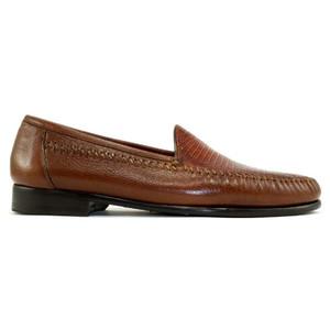 Alan Payne Bergamo Almond Lizard & Deerskin Loafers
