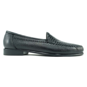 Alan Payne Bergamo Black Lizard & Deerskin Loafers