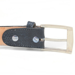 Belvedere Black Genuine Ostrich Dress Belt