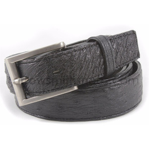 Belvedere Black Genuine Full Quill Ostrich Dress Belt
