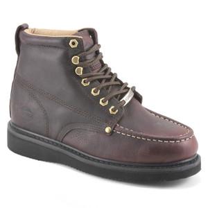 Bonanza Dark Brown Full-Grain Tumbled Leather Boots