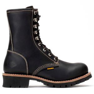Bonanza Black Full-Grain Oiled Leather Logger Boot