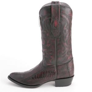 Los Altos Cherry Boots Genuine Ostrich Skin