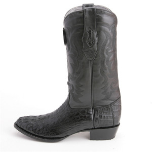 Los Altos Black Western Boots Genuine Crocodile Skin