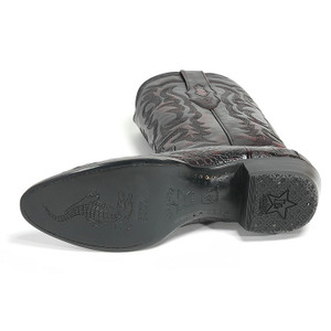 Los Altos Cherry Western Boots Genuine Crocodile Skin