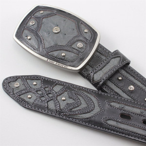 King Exotic Gray Belt Genuine Ostrich Skin