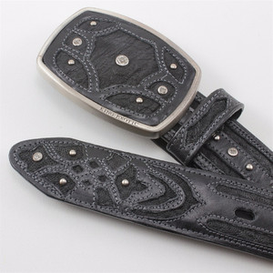 King Exotic Black Belt Genuine Elephant Skin