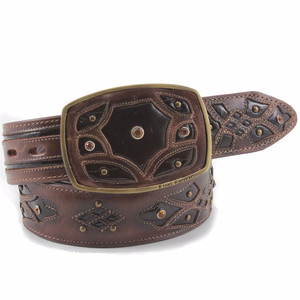 King Exotic Brown Belt Genuine Eel