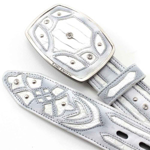 King Exotic Handmade Belt Genuine White Python