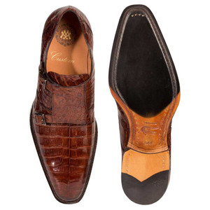 Mezlan PRAGUE Sport Exotic Crocodile Dress Monkstraps