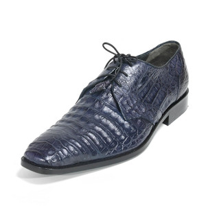 Los Altos Navy Genuine Crocodile Caiman Belly Oxford