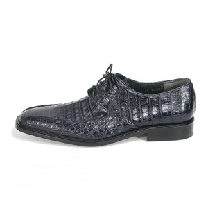 Los Altos Black Genuine Caiman Belly Lace Up