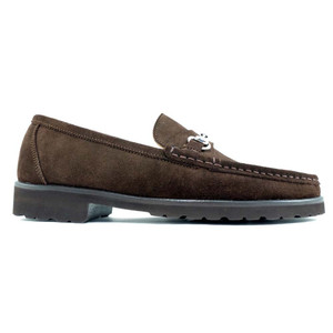 Alan Payne Wharton Brown Suede Bit Loafers