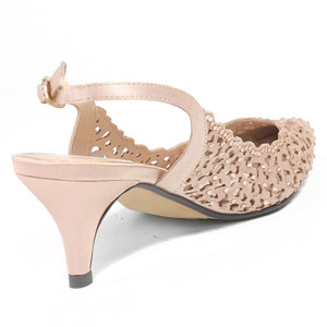 Lady Couture Jewel Champagne Fabric heels