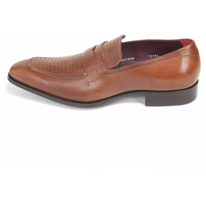 Mezlan Julio Cognac Brown Genuine Calfskin Leather Slip-Ons