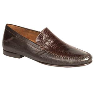 Romero Brown Genuine Calfskin & Ostrich Mezlan Slip-Ons