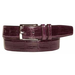 Mezlan Burgundy Genuine Alligator Fashion Belt