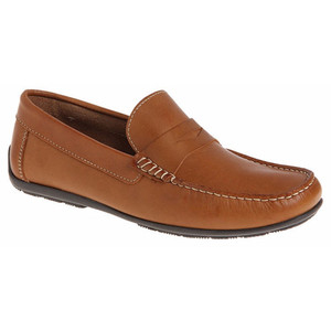 Sandro Moscoloni Paris Tan Genuine Leather Loafers