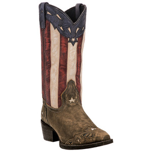 Laredo Keyes Tan Printed Leather Boots