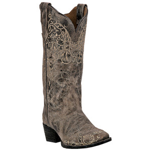 Laredo Jasmine Taupe Distressed Leather Boots