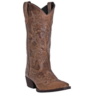 Laredo Cross Point Rust Brown Leather Boots