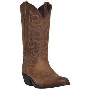 Laredo Bridget Tan Distressed Leather Boots
