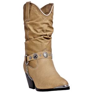 Dingo Olivia Tan Pigskin Leather Boots