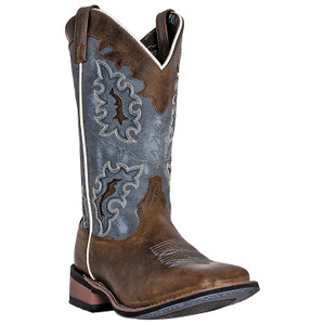 Laredo Isla Tan & Blue Genuine Leather Boots