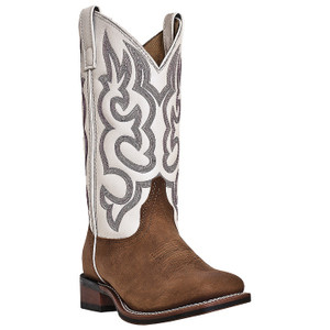 Laredo Mesquite Beige & Tan Genuine Leather Boots