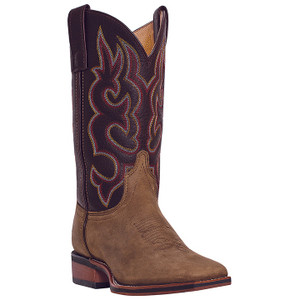 Laredo Lodi Cream & Burgundy Genuine Leather Boots