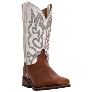 Laredo Lodi Brown & White Genuine Leather Boots