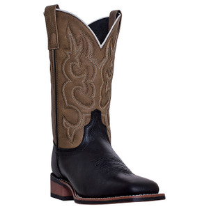 Laredo Lodi Black & Tan Genuine Leather Boots