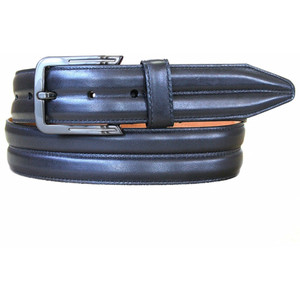 Lejon Center Club Black Genuine Leather Belt