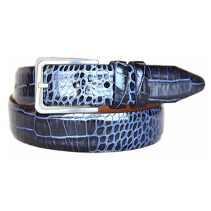Lejon Amador Black Printed Saddle Leather Belt